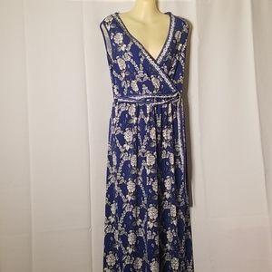 Max Studio Floral belt sign Dress